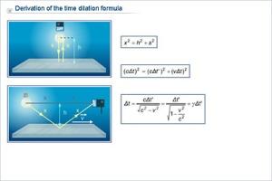 Härledning av tidsdilatationen Derivation of timedilatation