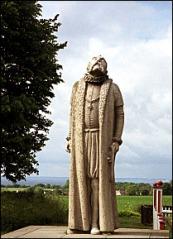 Tycho Brahe statyn påå Ven. Konstnär Ivar Johnsson.